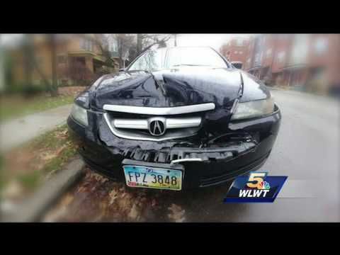 Man says city of Cincinnati not paying after firetruck totaled his car