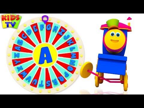Learn ABC - Spin the Wheel Game | Bob Fun Series | Kids Learning Videos