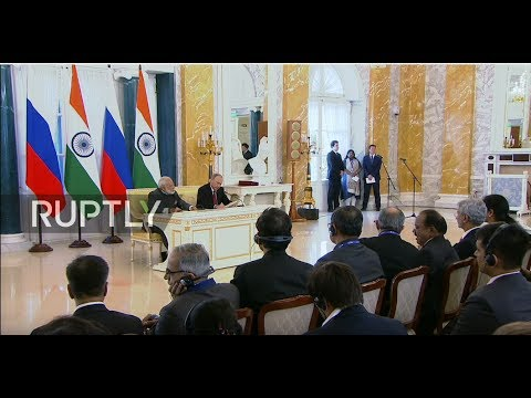 LIVE: Press statement by Modi and Putin in St. Petersburg
