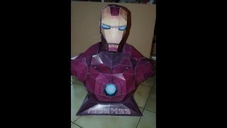Iron man bust papercraft