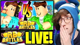🔴 DENIS vs SUB! (LIVE REACTION) | ⚔️ Roblox RB Battles Championship Event | 1 Million Robux Prize