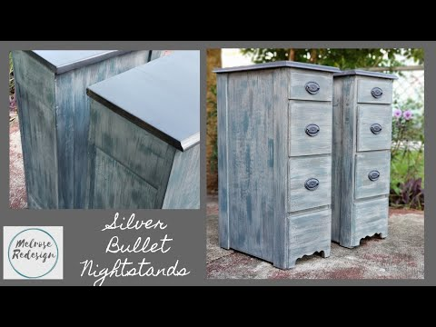 Silver Bullet Nightstands/Desk Into Nightstands/Melrose Redesign/DIY/Painted Furniture