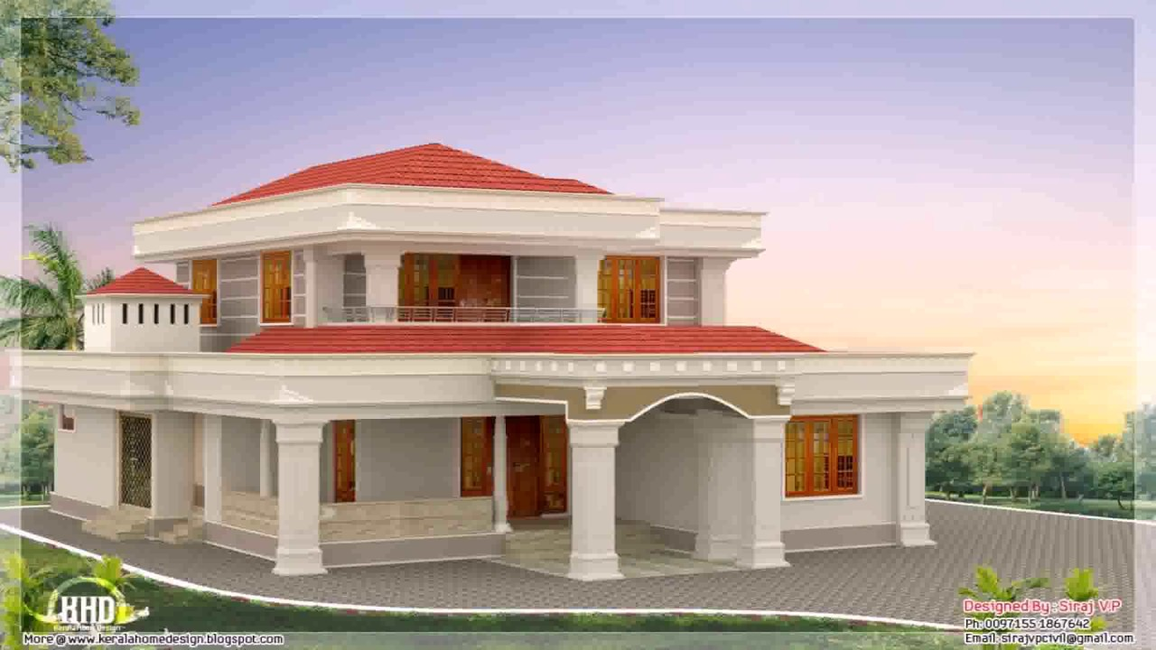 Indian style bungalow house plans youtube for Plan of bungalow in india