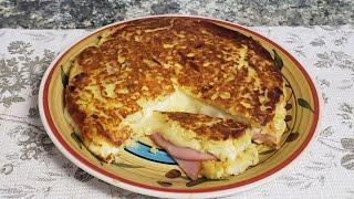 Tortilla de papas estilo sándwich, no dejes de verla te encantará!  Obvio! .Muy sabrosa.