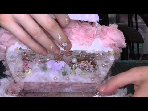 Shabby chic altered mini suitcase
