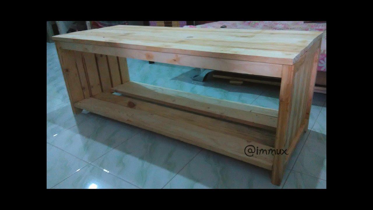 Membuat Rak Meja Tv Dari Bahan Kayu Pallet Jati
