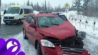 В Харпе автомобиль врезался в грузовой поезд