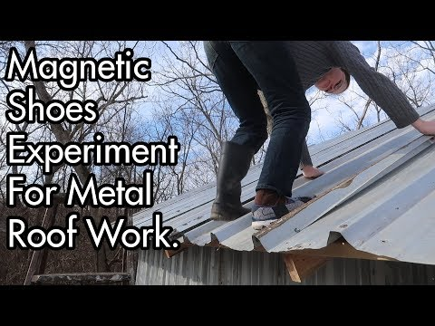 Magnetic Shoes Experiment For Working On Metal Roof