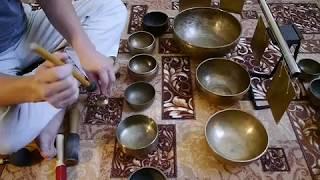 Поющие чаши обучение. Набор ПРИЧАСТИЕ. Тибетские чаши. Центр звукотерапия