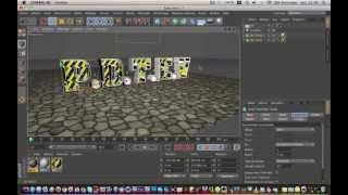 Tutoriel, Texte creux texturé avec Cinema 4D