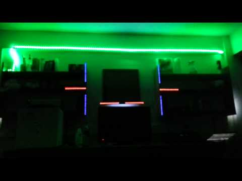 Dorm room LEDs flashing to music (Years by Alesso)