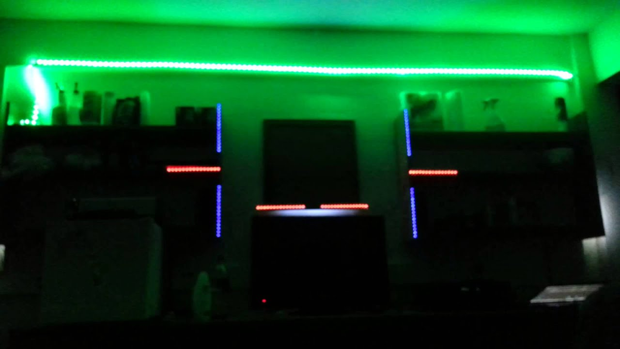 Dorm room leds flashing to music years by alesso youtube for Room decor led lights
