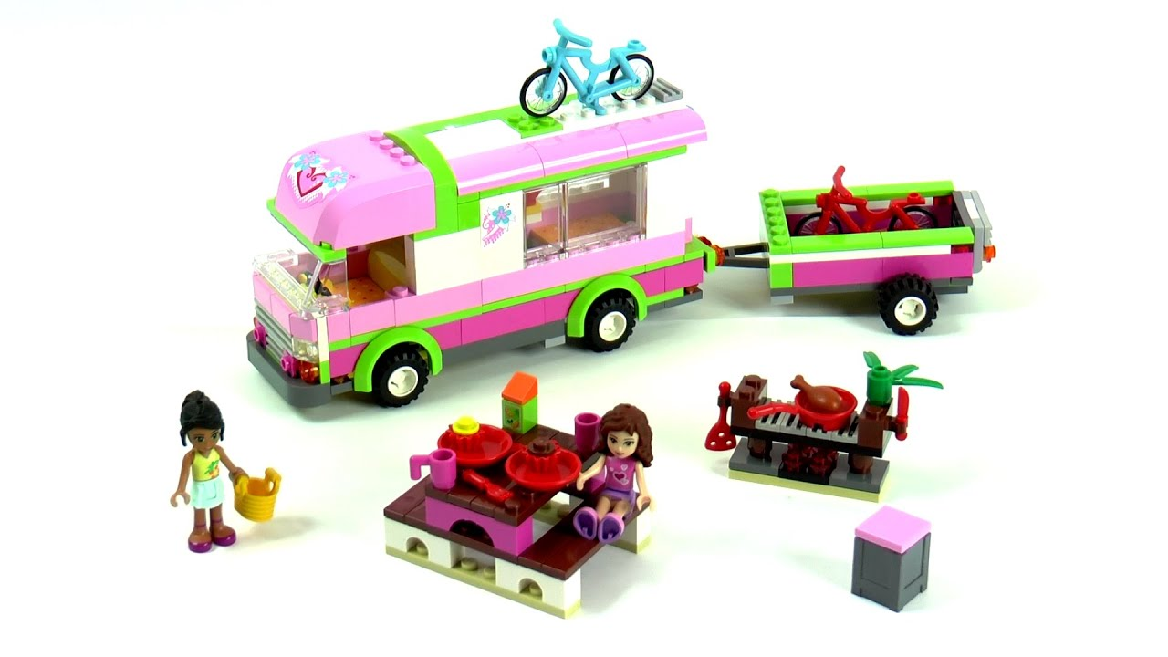 Lego Friends 3184 Adventure Camper Speed Build And Review Youtube