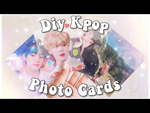 DIY Kpop Photo Cards! (BTS Edition) | Holographic, Transparent, Two Sided | PrettyPrinceJin