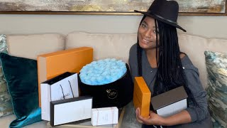 Hello everyone welcome back to my channel. Today's video is a luxury haul and inspired by video. I have some luxury LV purchase as well as some fragrances.