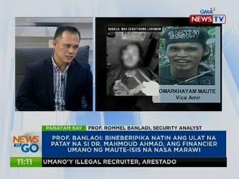 NTG: Panayam kay Prof. Rommel Banlaoi, Security Analyst