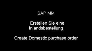 SAP MM - Créer des bon de commande