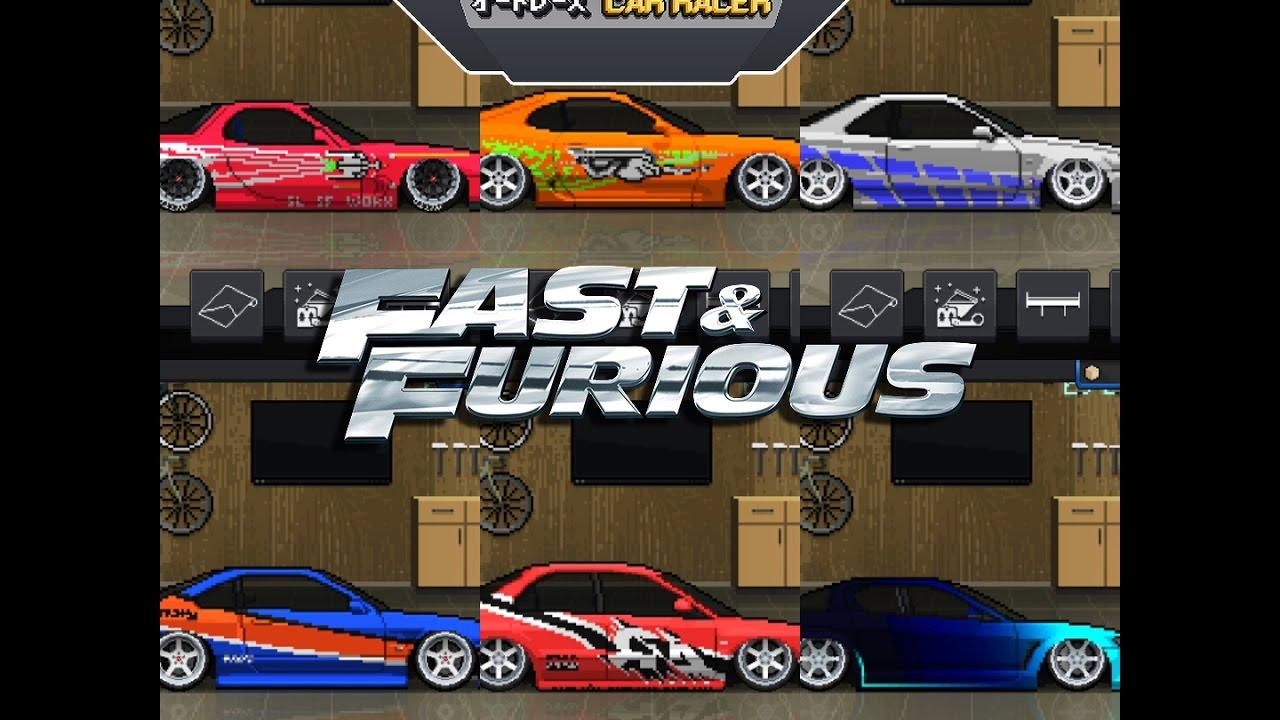 Pixel car racer fast and furious garage showcase youtube for Garage pixel auto metz