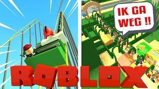 WAAROM RENNEN ZE WEG?! | Roblox Themepark Tycoon 2 #4