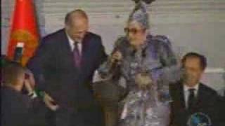 Lukashenko dancing with Verka Serduchka