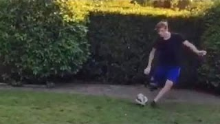 Brooklyn Beckham Shows Off His Free-Kick Accuracy - Has The Same Technique As His Dad!