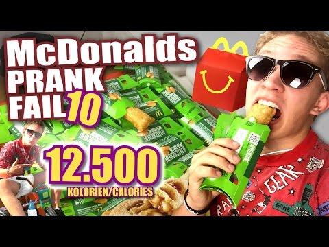 McDonalds PRANK FAIL - 12.500 KALORIEN/CALORIES & Happy Meal - McDonalds Roulette auf dem Dreirad