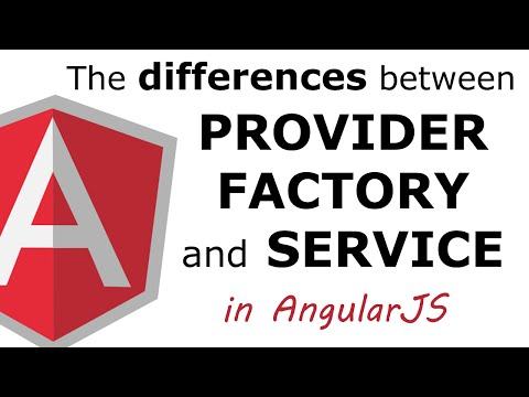 The difference between provider, factory and service in AngularJS