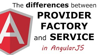 The difference between provider, factory and service in AngularJS thumbnail