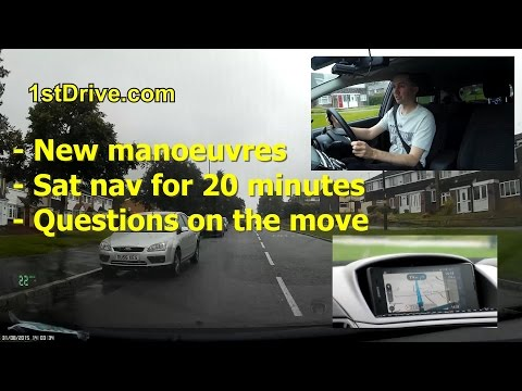 New driving test from December 4th 2017 - full mock test route with sat nav