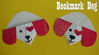 Bookmark dog  Paper Craft For Kids | How to make Bookmark dog Paper  ideas step by step