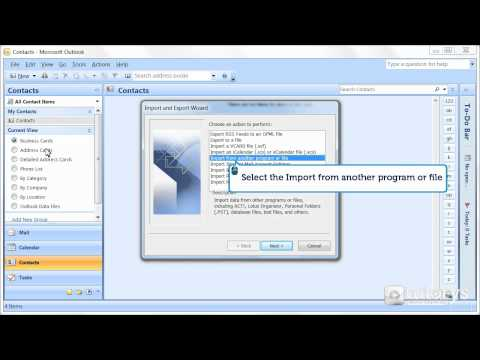 How to import emails and contacts with Outlook 2007?