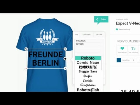 T-Shirt selbst gestalten im Online-Designer from YouTube · Duration:  1 minutes 50 seconds