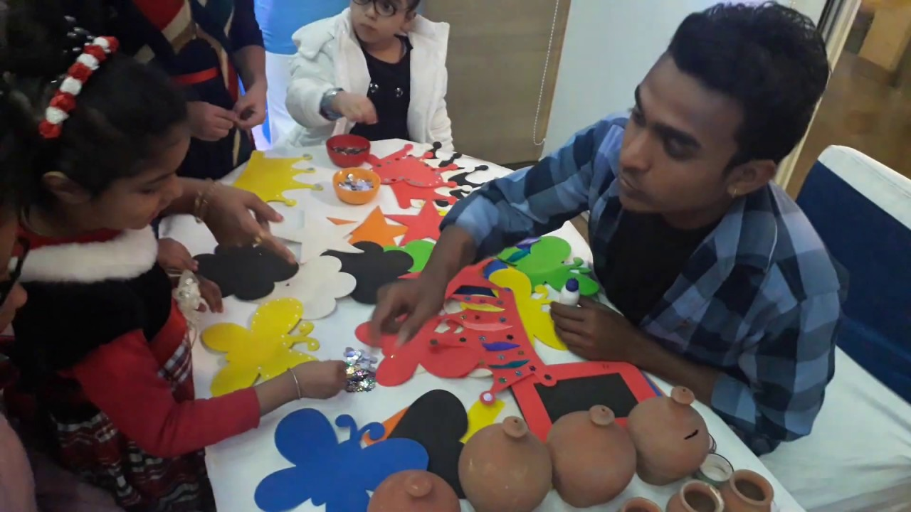 Art And Craft Activity For Birthday Party 09891479771 Youtube