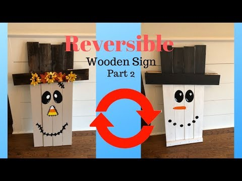 How to Make a Wooden Scarecrow/Snowman Sign Part 2