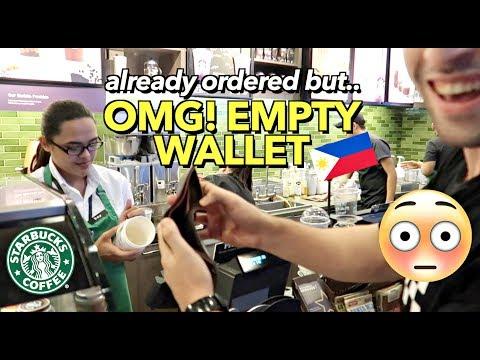 NO MONEY TO PAY THE BILL..🤦🏻♂️ Starbucks PHILIPPINES 🇵🇭