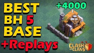 BEST Builder Hall 5 Troll Base (BH5) 2018 + Replay Proof With +4000 Trophies | Clash Of Clans