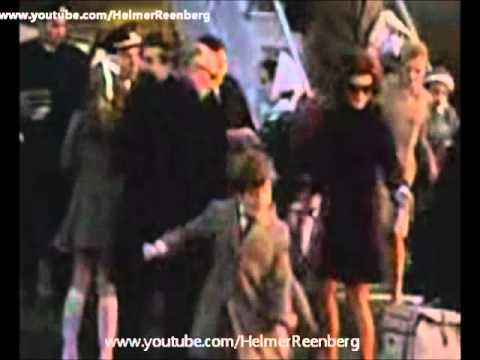 January 5, 1969 - Jacqueline Kennedy Onassis and children arriving at JFK Airport, New York, NY