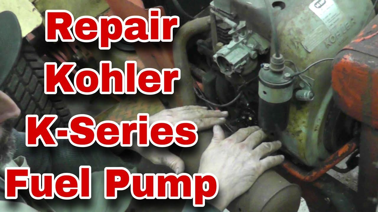 John Deere Riding Mower Wiring Diagram How To Repair Kohler K Series Fuel Pump With Taryl Youtube