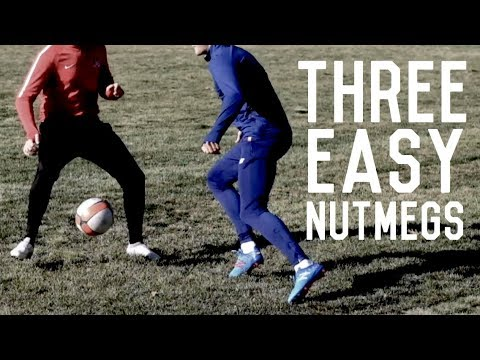 Three Easy Nutmegs To Beat A Defender | Dribbling Tutorial For Footballers/Soccer Players