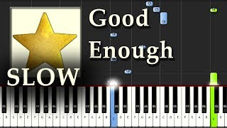 Evanescence - Good Enough - Piano Tutorial Easy Synthesia SLOW - How To Play