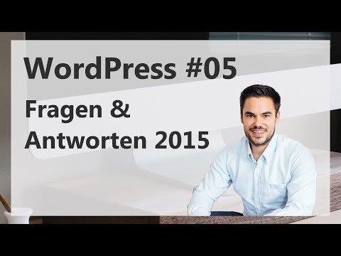 WordPress Fragen & Antworten 2015 / 2016 auf Deutsch