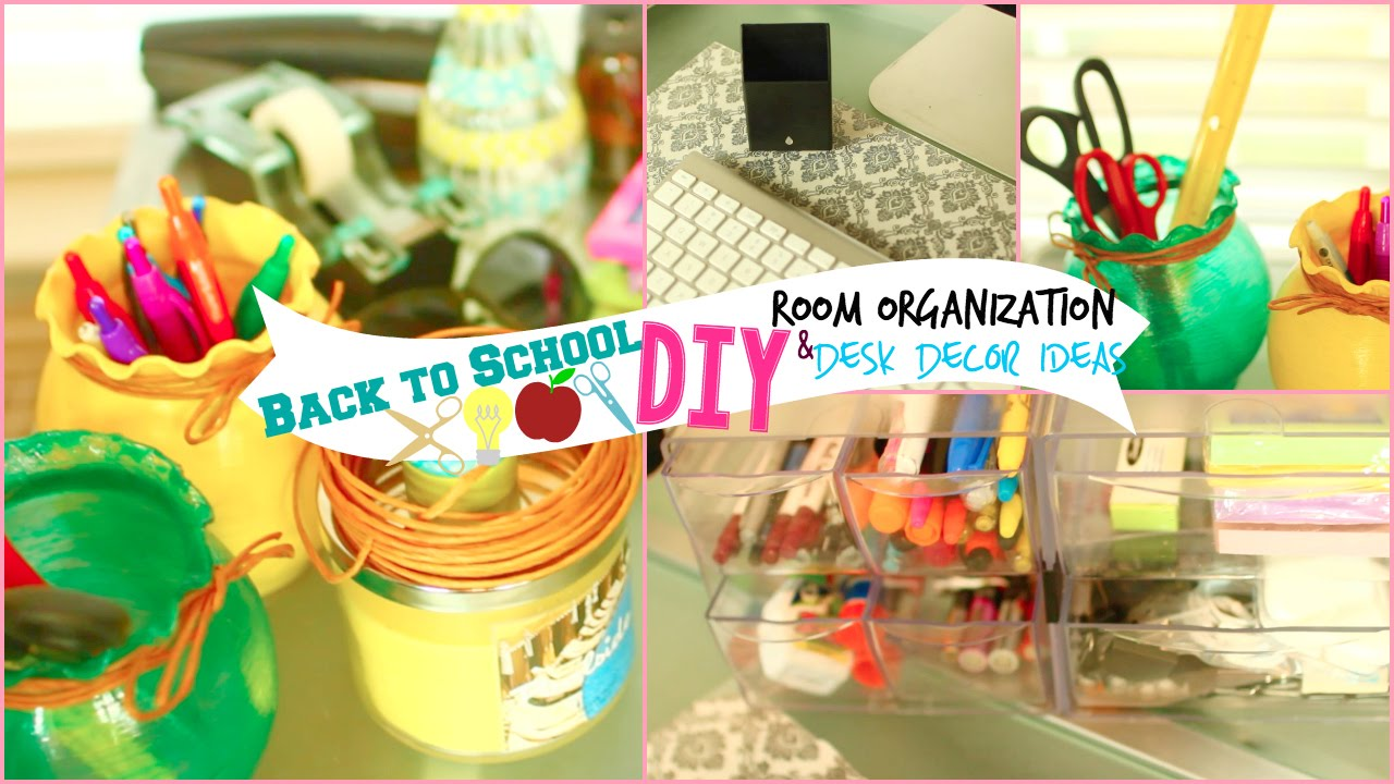 Popular DIY Back To School Room Decor Amp Organization  Pink And Blue Magazine