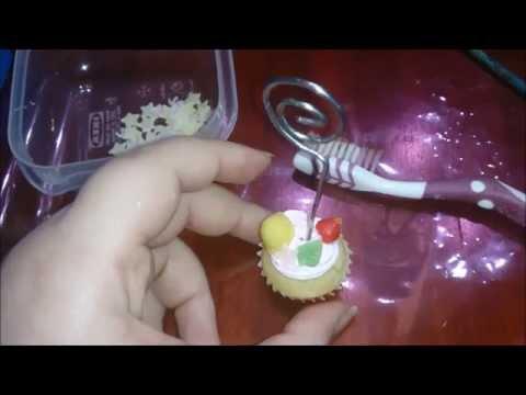 AirDry Clay tutorial series #04 Cupcake portamemo *Resin clay