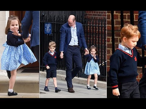 Royal Baby: Prince George and Princess Charlotte arrive to meet their little brother
