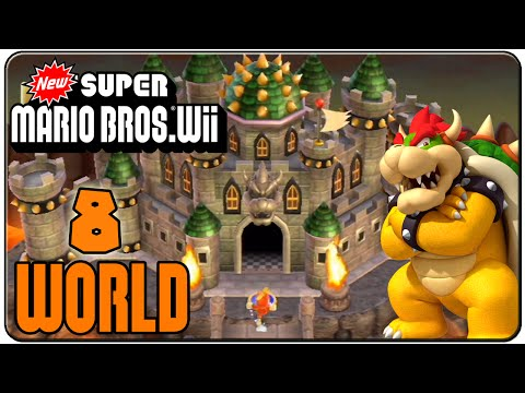 New Super Mario Bros. Wii 100% Walkthrough World 8