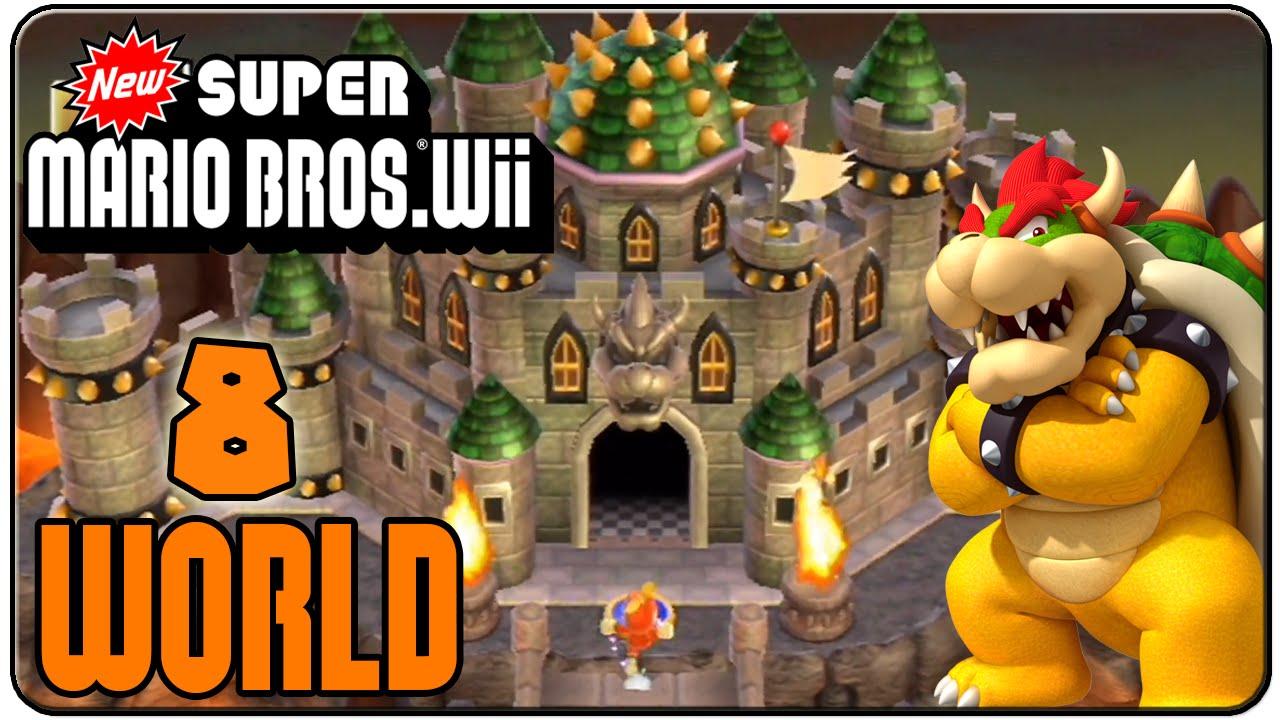 New Super Mario Bros Wii 100 Walkthrough World 8 Youtube