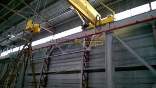 Кран мостовой опорный, тельфер передвижной - испытание(ООО ПКФ