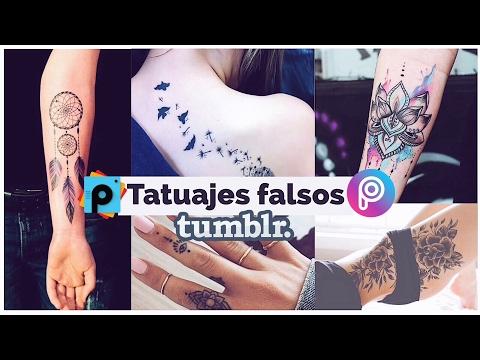 Hacer Tatuajes Falsos Tipo Tumblr En Tus Fotos Picsart Tutorial