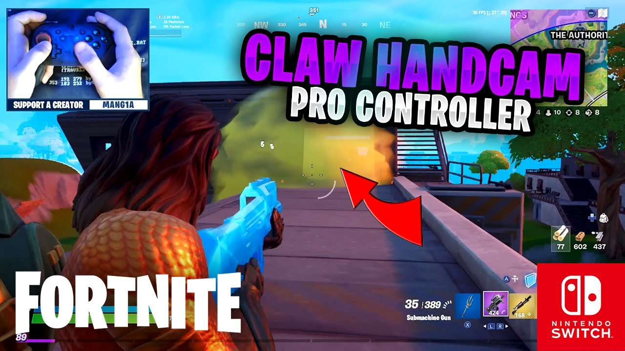 CLAW HANDCAM - Fortnite on the Nintendo Switch Pro Controller #81