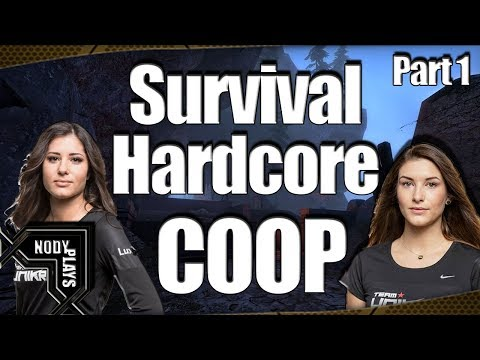CS:GO - Two Woman, One Man-child against the world. - ( COOP Survival Map)